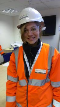 I started my job and got to go down the tunnels in the underground. Dressed in orange.