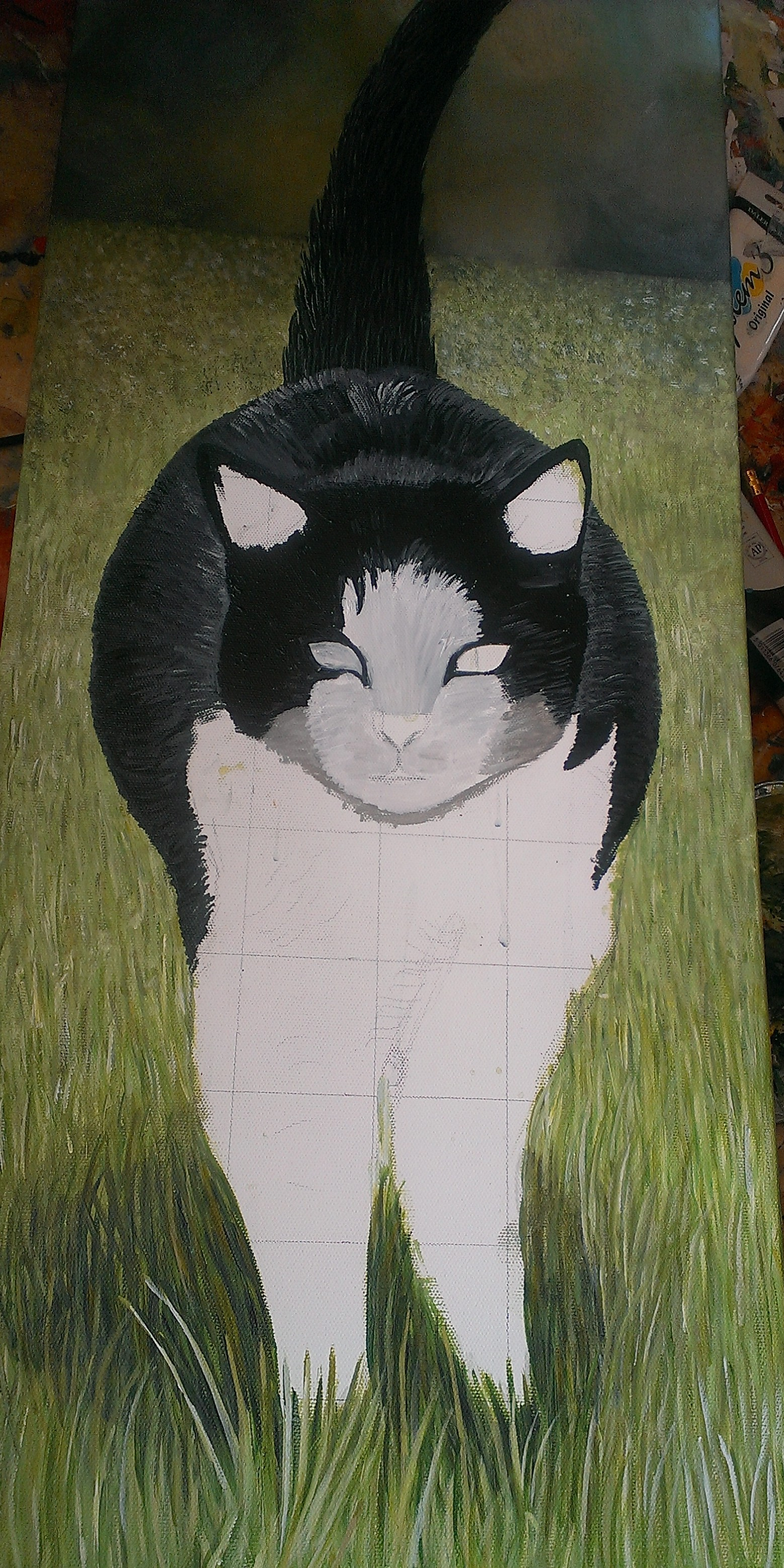 how to paint grass animal art by imi